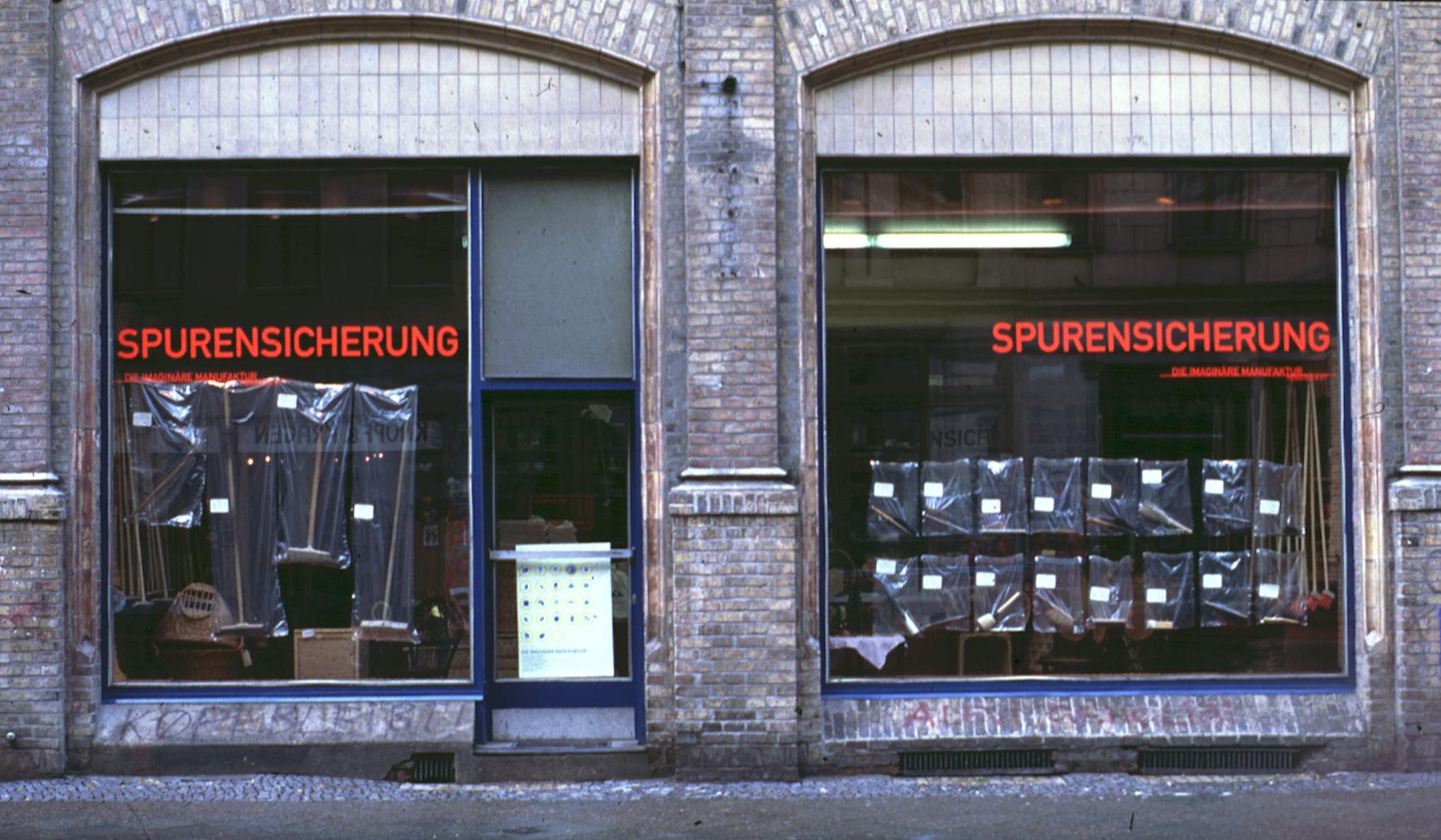 Schaufenster # 07 SPURENSICHERUNG
